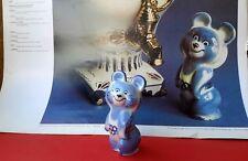 XXII Moscow-1980 Olympics Games Porcelain GZHEL Mascot Blue MISHA