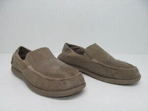 Crocs Santa Cruz Khaki Canvas Loafers Slip On Shoes Size Mens 10