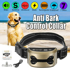 Anti Bark Shock Dog Trainer Stop Barking Pet Training Control Collar Ultrasonic