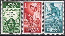 Colonias españolas Rio Muni 1965 veinticinco años de paz estampillada sin montar o nunca montada Fina 60 - 62