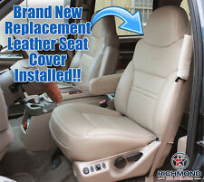 00 01 Ford Excursion Limited-Driver Side Lean Back Bucket Leather Seat Cover TAN