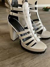 New White Strappy Heels Size 9