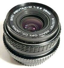 Asahi SMC Pentax-M 28mm f2.8 Wide Angle Prime Lens with Caps Box UK Fast Post