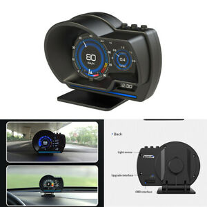 Digital Car HUD GPS Speedometer Turbo Temp Gauge Multifunctional OBD2 Fault Code