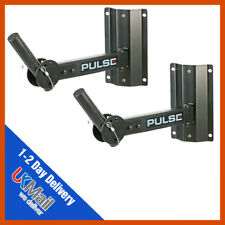 2 x Pulse 50KG Heavy Duty Adjustable Speaker Stand Wall Bracket PA Disco DJ