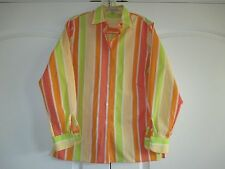 Foxcroft Sz 6 Wrinkle Free Classic Fit multi-color striped long sleeve Excel.