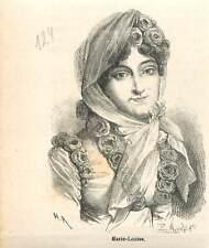 Marie-Louise d'Autriche Impératrice des Français Empire Napoléon GRAVURE 1883