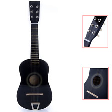"23"" Kids Black Acoustic Guitar Toy 6 String Adjustable Classic Beginners Musical"