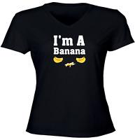 Juniors Girls Women Tee T-Shirt Gift Print Shirts Funny A Banana Fruit Humorous