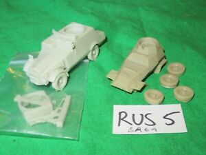 2 cast resin  Armoured Car 1/76th scale 20mm  kits unbuilt