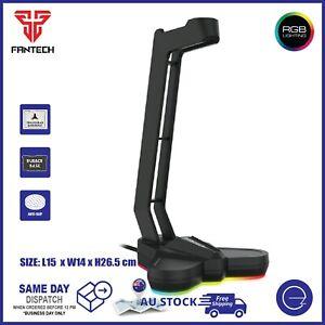 Fantech Headset Stand with RGB Light Headphone Anti-Slip Base Holder Hanger