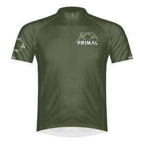 Primal Wear Eco Men's Sport Cut Full Zip Short Sleeve Cycling Jersey