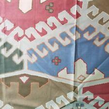 Vintage Cotton Fabric Southwest Print Aztec Navajo Teflon 5+ Yards Bloomcraft
