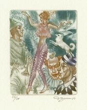 "Ex libris Exlibris ""Circus"" by BEKKER DAVID / Ukr."