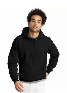 NEW Medium  Black Hanes Mens Comfortblend Ecosmart Hooded Sweatshirt Hoodie