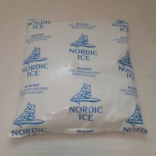 """Lot of 10 Reusable Gel Ice Packs """"Nordic Ice"""" 6 X 6 Inch 16Oz Cold Freezer Packs"""