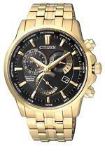 Citizen Gold Mens Analog Casual Eco-drive Perpetual Calendar Bl8142-84e