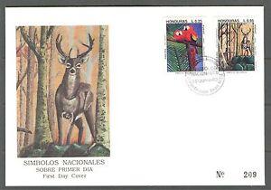 HONDURAS 1993, BIRDS, WILD ANIMALS, Scott C900-C901 on CACHETED  FDC