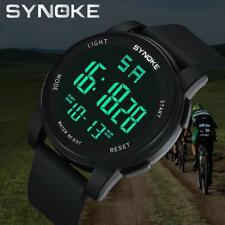 SYNOKE Men Multi Function Military Sport Watch LED Digital Dual Movement Watches