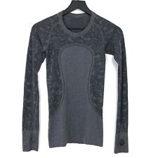 Lululemon Swiftly Tech Long Sleeve Running Shirt Top Womens Size 2 Gray