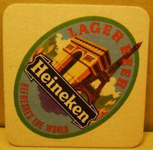 Old Heineken Lager Beer  Pub beer mat -