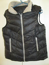 Very Warm Puffer Vest Coat With Removeable Hood Lined Approx Size 12