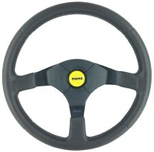 Genuine Momo D35 350mm leather steering wheel and horn button.  Refurbished  16B