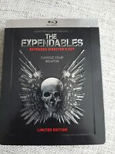 THE EXPENDABLES BLU RAY STEELBOOK - IMPORT - STALLONE - EMBOSSED - EXTENDED