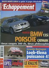 ECHAPPEMENT n°485 01/2008 PORSCHE CAYMAN BMW 135i CORSA GSI WRC GRANDE BRETAGNE