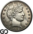 1912 D Barber Half Dollar Nice Choice BU Silver 50c Free Shipping!