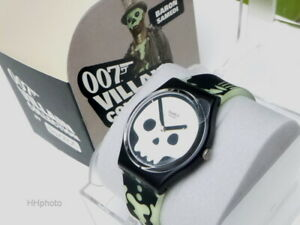 """Swatch: James Bond 007 """" Live And Let's Die (GB237) Baron Samedi New/Rarity"""