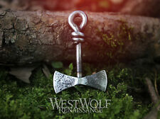 Hand-Forged Viking Axe Pendant - Norse/Blacksmith/Jewelry/Necklace/Ax/Iron/Steel