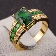 Emerald 18K Gold Filled Fashion Ring Popular Size 7 Man Woman Classic Wedding