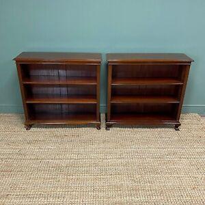 Pair of Edwardian Mahogany Antique Bookcases by John Taylor