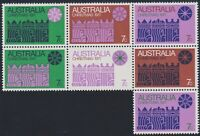 Australia Post - Design Set - MNH - Decimal - Christmas 1971 - se-tenant block
