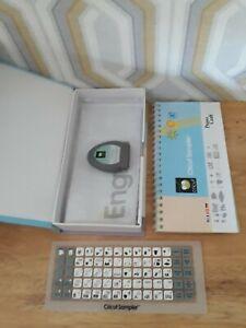 Cricut cricut sampler Cartridge With Keypad Overlay boxed & complete pwo