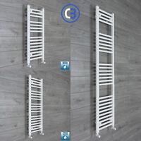 400mm Wide 1200mm High Straight Black Heated Towel Rail Radiator Modern Bathroom