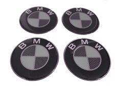 BMW Felgen Aufkleber Nabendeckel Nabenkappen Silikon Logo 4x55 mm Satz Carbon