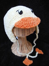 Infants Duck Cap Yellow Crocheted 0-6 months New by San Diego Hat Co.