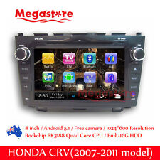 "7"" Android Car Dvd Gps Head Uint Nav Quad Core For Honda Crv 2007-2011"