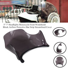 """Retro Round 5"""" 7""""Headlight Motorcycle Scooter Front Windshield Protective Cover"""