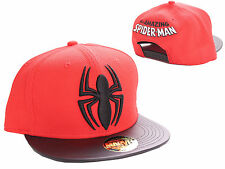 OFFICIAL MARVEL'S THE AMAZING SPIDERMAN SYMBOL RED SNAPBACK CAP HAT (BRAND NEW)