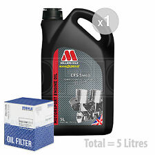 Engine Oil and Filter Service Kit 5 LITRES Millers CFS 5w-40 full synth 5L