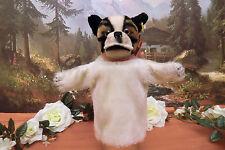 Steiff 317 Puppet Bully French Bulldog Hand Doll Button Flag 1952-58 Vgc