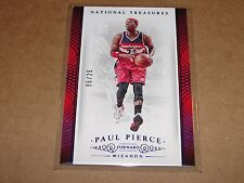 2014-15 National Treasures PAUL PIERCE #69 Blue SP/25 Wizards-Clippers JAYHAWKS