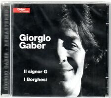 CD DOPPIO GIORGIO GABER : IL SIGNOR G/ I BORGHESI   NUOVO   SIGILLATO