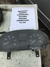 clock set 1.9 01-06 vauxhall vivaro renault trafic 16v speedo gauge rev counter