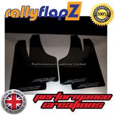 rallyflapZ for MAZDA 3 MPS Mk1 Mud Flaps & Fixings Black Logo Matt Black 4mm PVC