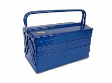 TRUSCO 3 step type tool box length 412 width 220 height 343 blue