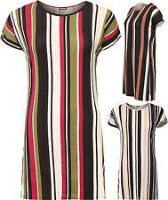 Gestreifte Hüftlang Damen-T-Shirts ohne Mehrstückpackung